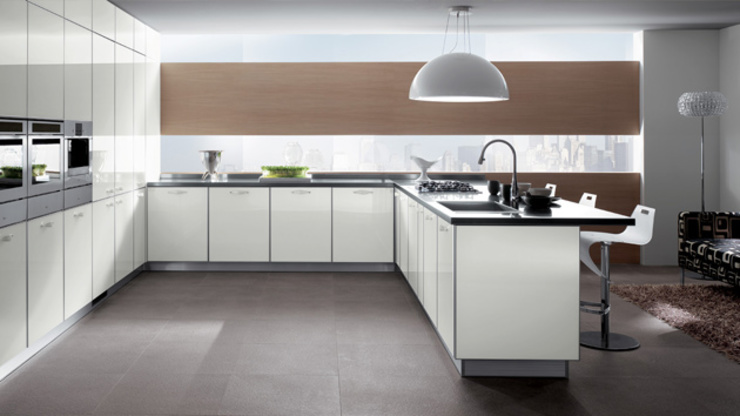 Minimalist White Kitchen by Subramanian- Homify Minimalist Quartz
