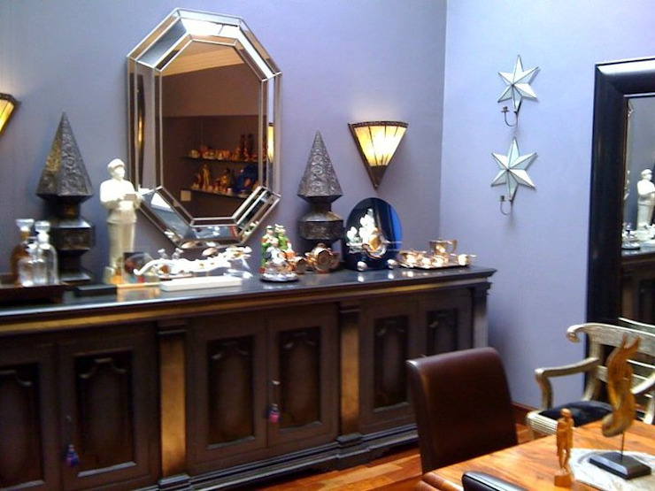 Bachelor's Art Deco Inspired Home Eclectic style dining room by CKW Lifestyle Associates PTY Ltd Eclectic