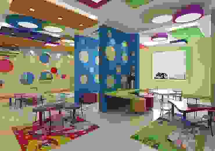 صور وأفكار لعمل ديكورات الحضانات والمدارس الخاصة بألأطفال مع كاسل للديكورات: حديث  تنفيذ كاسل للإستشارات الهندسية وأعمال الديكور في القاهرة, حداثي MDF