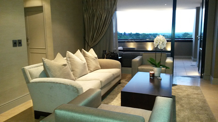 Sandton Style Penthouse Living Modern living room by CKW Lifestyle Associates PTY Ltd Modern