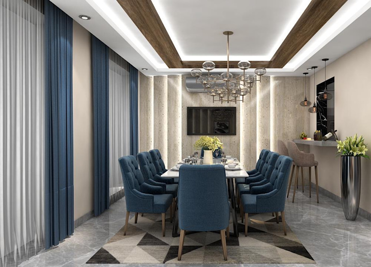 Modern Dining Room by Archadeo Interior Modern Bricks