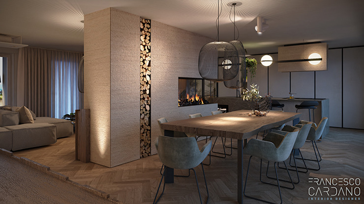 Comedores de estilo  por FRANCESCO CARDANO Interior designer,