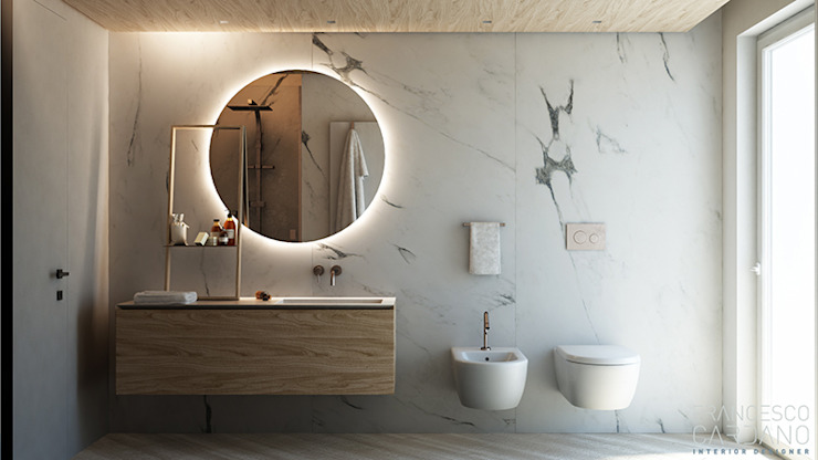 FRANCESCO CARDANO Interior designer Industrial style bathroom