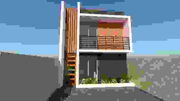 Proyecto de arquitectura de vivienda unifamiliar CASA PORTALES Casas de estilo mediterráneo de ALICANTO - ARQUITECTURA, INGENIERÍA Y CONSTRUCCIÓN Mediterráneo