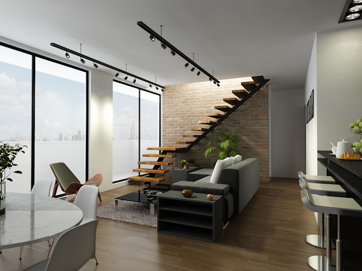 Salas modernas de Proyecto-S Moderno
