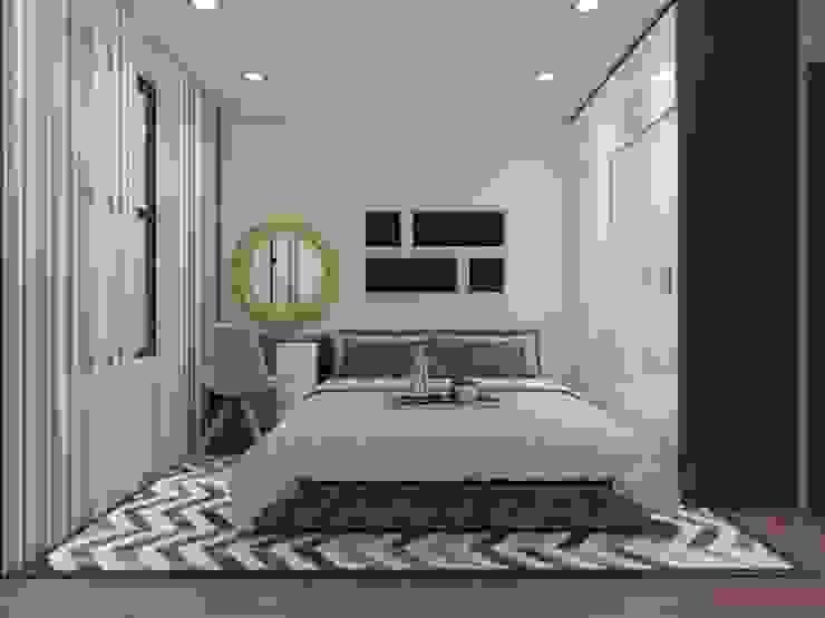 Phòng ngủ với thiết kế cá tính, độc đáo. bởi Công ty TNHH TK XD Song Phát Châu Á Ván ép