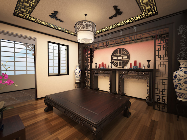 20 Mẫu Thiết Kế Phòng Thờ Đẹp Theo Phong Thủy Cho Nhà Ống Hiện Đại bởi Công ty Thiết Kế Xây Dựng Song Phát Châu Á
