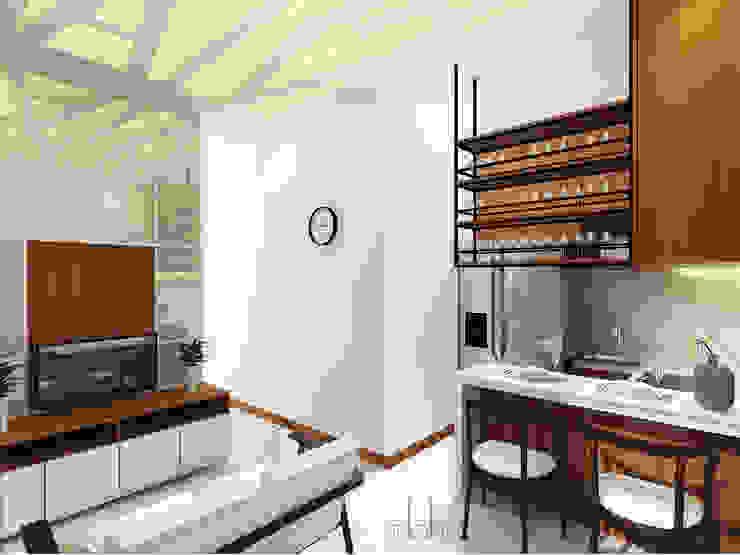 Interior Rumah Cutra Harmoni Ruang Keluarga Modern Oleh SEKALA Studio Modern Kayu Lapis