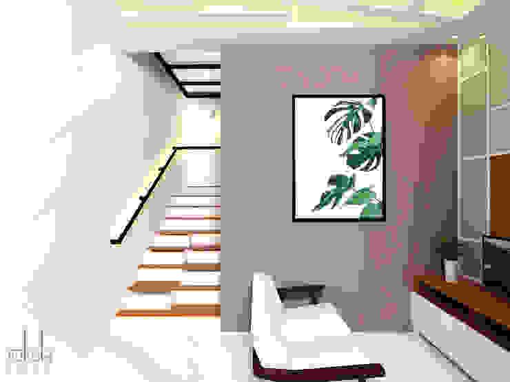 Interior Rumah Cutra Harmoni Ruang Keluarga Modern Oleh SEKALA Studio Modern Marmer