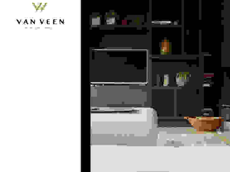 INTERIEURONTWERP WOONKAMER: modern  door VAN VEEN INTERIOR DESIGN, Modern Hout Hout