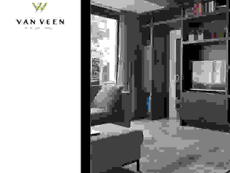 WOONKAMER Moderne woonkamers van VAN VEEN INTERIOR DESIGN Modern Hout Hout