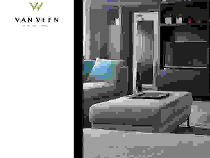 WOONKAMER Moderne woonkamers van VAN VEEN INTERIOR DESIGN Modern