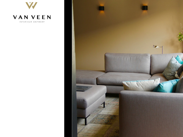 WANDSPOTS Moderne woonkamers van VAN VEEN INTERIOR DESIGN Modern