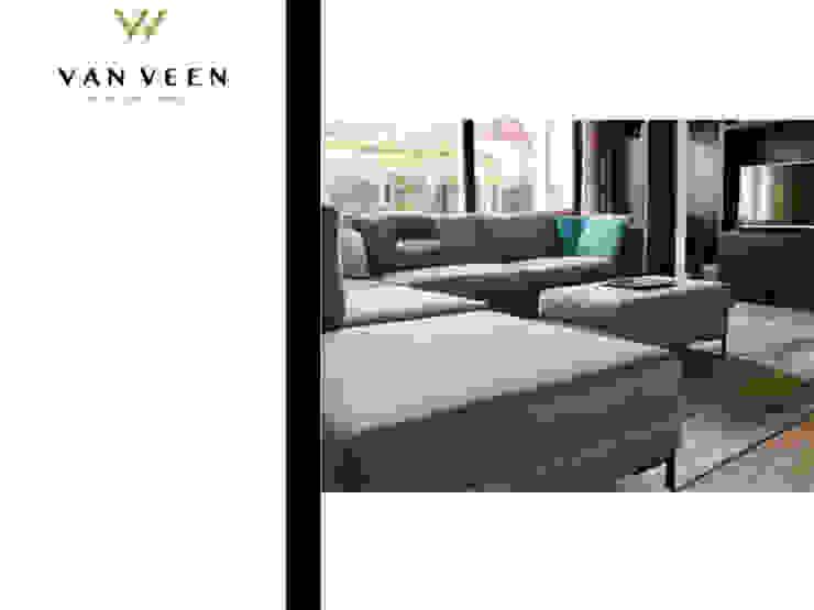 HOEKBANK Moderne woonkamers van VAN VEEN INTERIOR DESIGN Modern