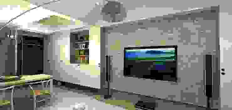 北歐風文化石電視牆 根據 圓方空間設計