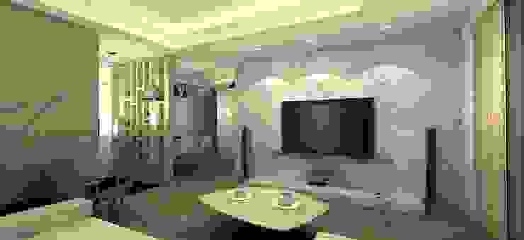 低調奢華的大理石電視牆 根據 圓方空間設計