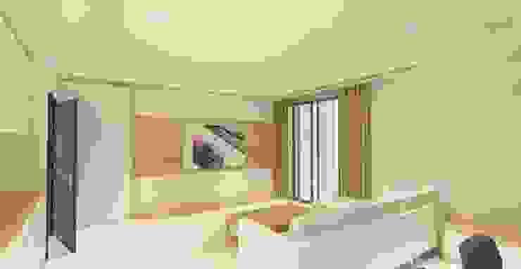 日式無印風格木質電視牆 根據 圓方空間設計