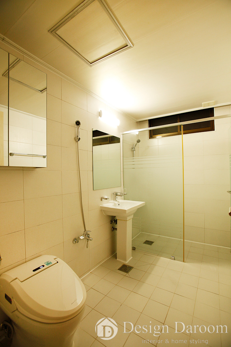 워커힐 아파트 56py 안방 욕실 모던스타일 욕실 by Design Daroom 디자인다룸 모던