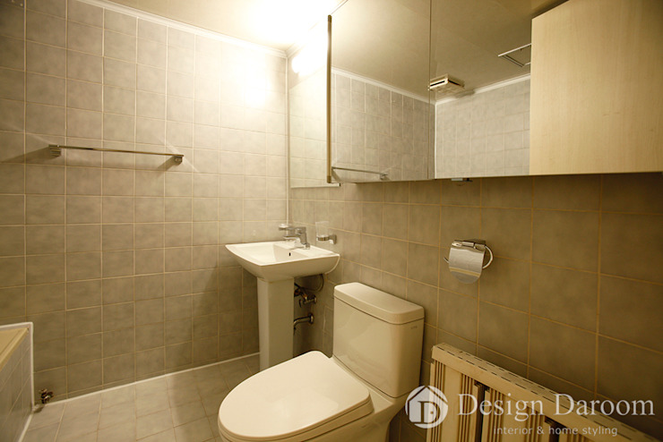워커힐 아파트 56py 거실 욕실 모던스타일 욕실 by Design Daroom 디자인다룸 모던