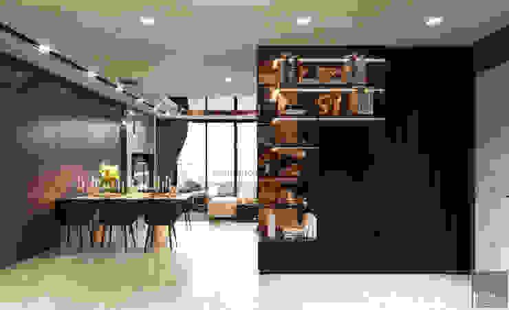 THIẾT KẾ CĂN HỘ AQUA 4 ĐẲNG CẤP VÀ KHÁC BIỆT TRONG PHONG CÁCH HIỆN ĐẠI Phòng ăn phong cách hiện đại bởi ICON INTERIOR Hiện đại