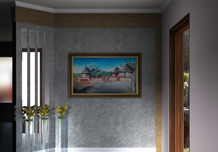 Entrance Wall Kori Interiors Corridor, hallway & stairsAccessories & decoration