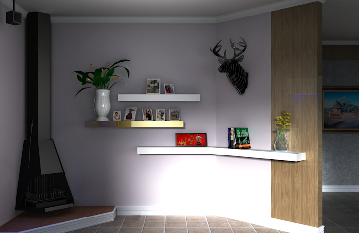Photo Display Kori Interiors Living roomShelves