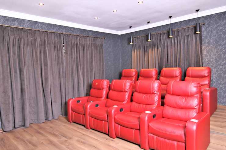 Cinema Motama Interiors and Exteriors Modern media room