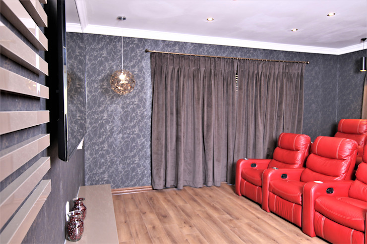 Motama Interiors and Exteriors Modern media room