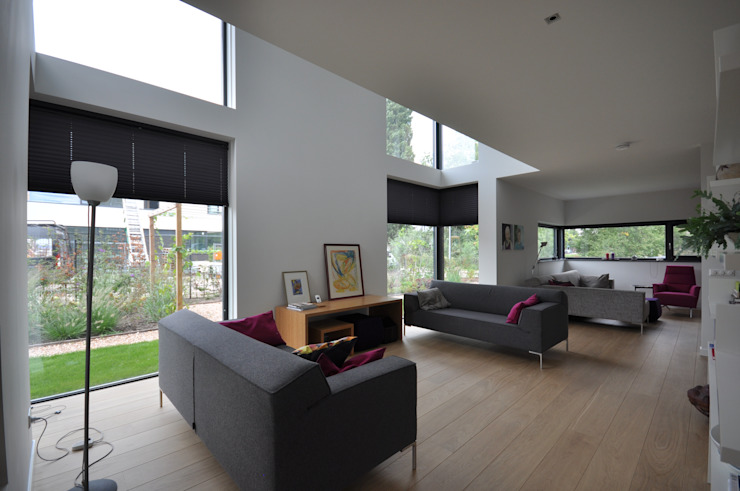 Villa Rotterdam Moderne woonkamers van Bongers Architecten Modern