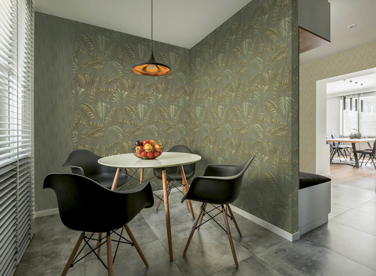 Tropical style dining room by PAPEL TAPIZ GDL Tropical