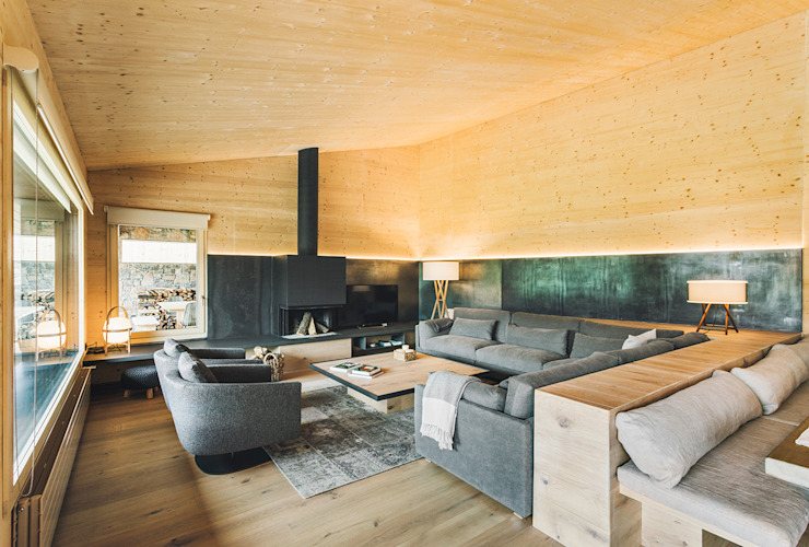 dom arquitectura Moderne Wohnzimmer