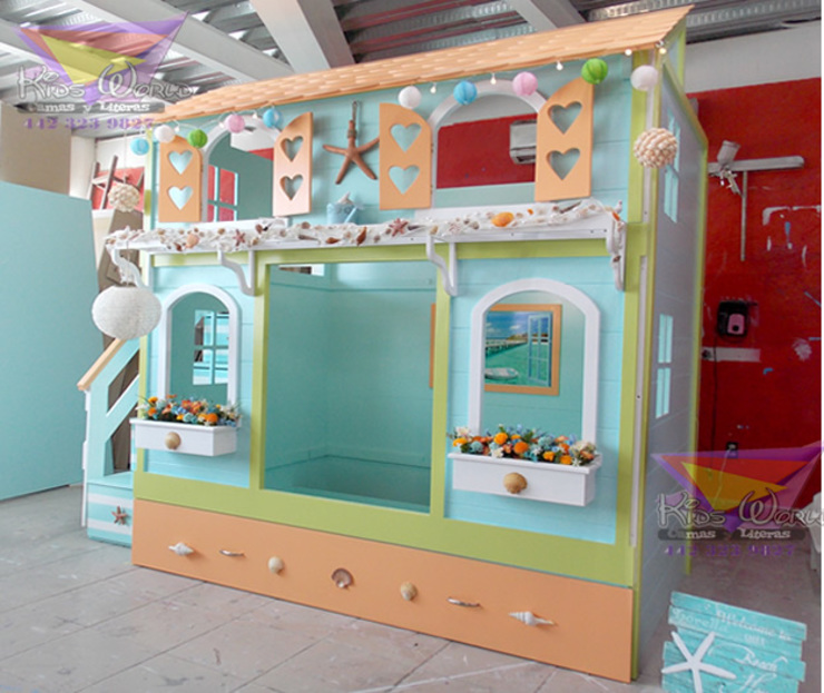 Preciosa casita Mazatlan:  de estilo tropical por camas y literas infantiles kids world, Tropical Derivados de madera Transparente