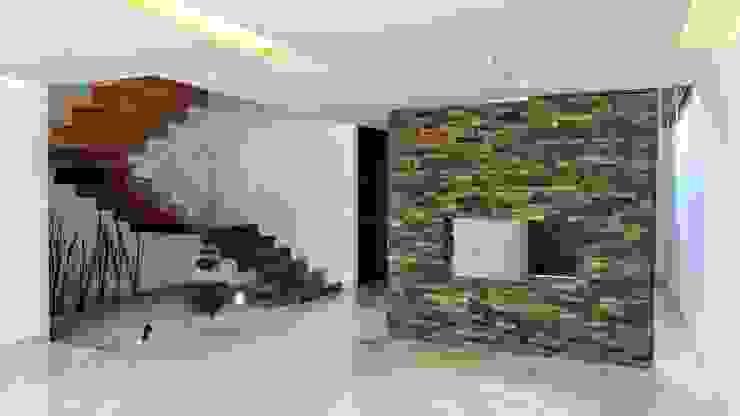 Couloir et hall d'entrée de style  par Herrera Arquitectos H&H,
