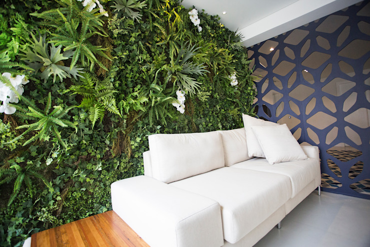 Jardim Vertical Artificial Interno: Paisagismo de interior  por Vertical Garden - Jardim Vertical e Paisagismo Corporativo