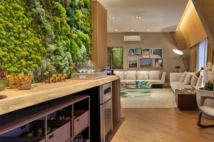 Moss Wall indoor Enviroment Vertical Garden - Jardim Vertical e Paisagismo Corporativo Interior landscaping