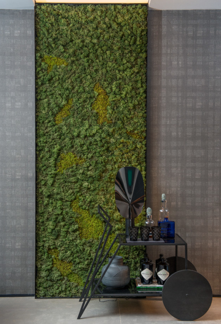 Preserved Moss Panel Vertical Garden - Jardim Vertical e Paisagismo Corporativo Interior landscaping