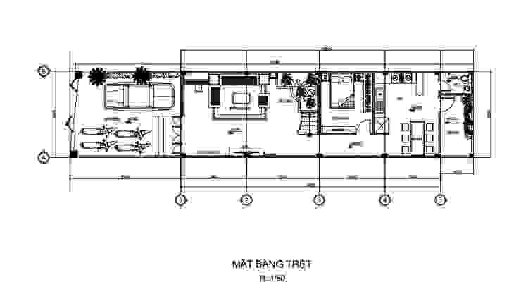Kiến Trúc Độc Đáo Trong Thiết Kế Nhà Phố 3 Tầng 5x15m Ở Thủ Đức Công ty Thiết Kế Xây Dựng Song Phát Nhà có sân thượng