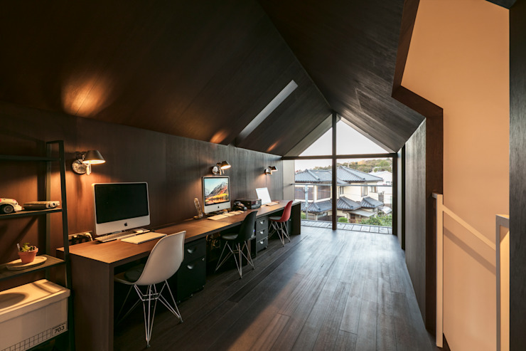 星設計室 Living room Plywood Wood effect
