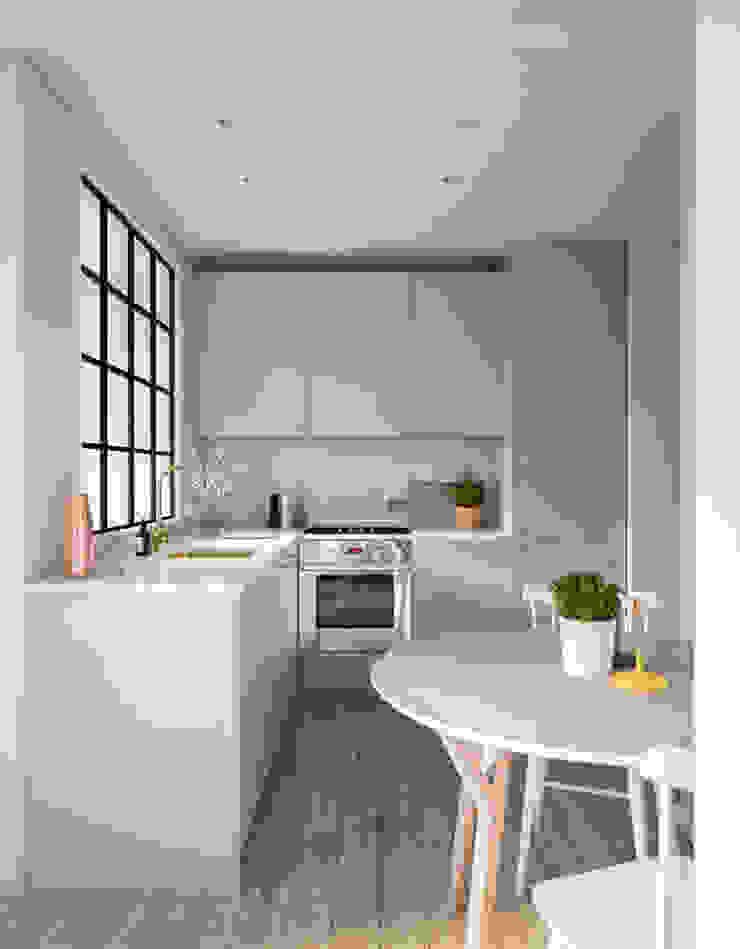 Mấu thiết kế bếp chữ L đẹp phù hợp với không gian sống hiện đại bởi Công ty TNHH TK XD Song Phát Hiện đại Đá hoa