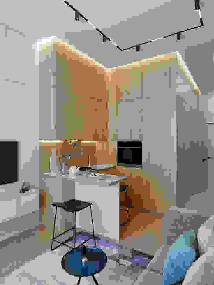 Mấu thiết kế bếp chữ L đẹp phù hợp với không gian sống hiện đại Phòng ăn phong cách hiện đại bởi Công ty TNHH TK XD Song Phát Hiện đại Đồng / Đồng / Đồng thau