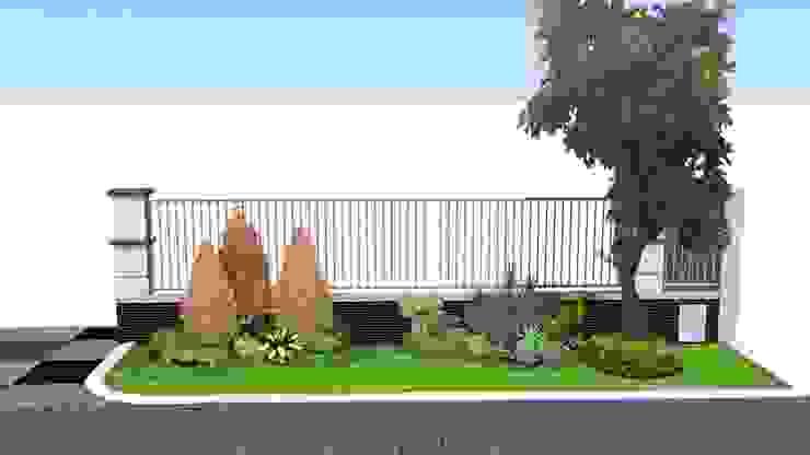 Desain Taman Untuk Halaman Luar Pagar By Tukang Taman Surabaya
