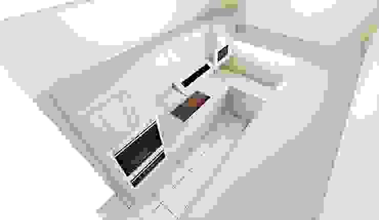 Narrow Kitchen Design by KGOBISA PROJECTS Minimalist