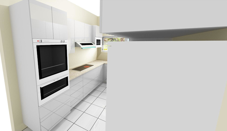 Narrow Kitchen Design: minimalist  by KGOBISA PROJECTS, Minimalist