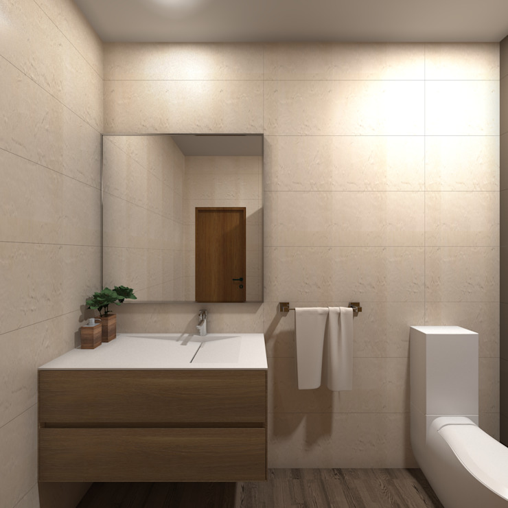 Asian style bathroom by arcq.o | rui costa & simão ferreira arquitectos, Lda. Asian