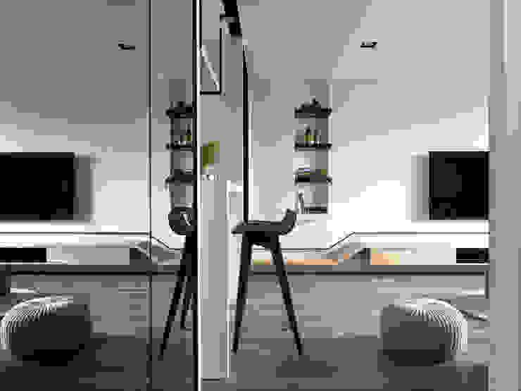 【家】– 李宅 现代客厅設計點子、靈感 & 圖片 根據 六木設計 現代風