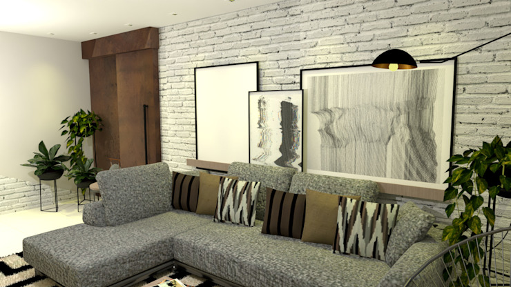 homify Modern living room Bricks