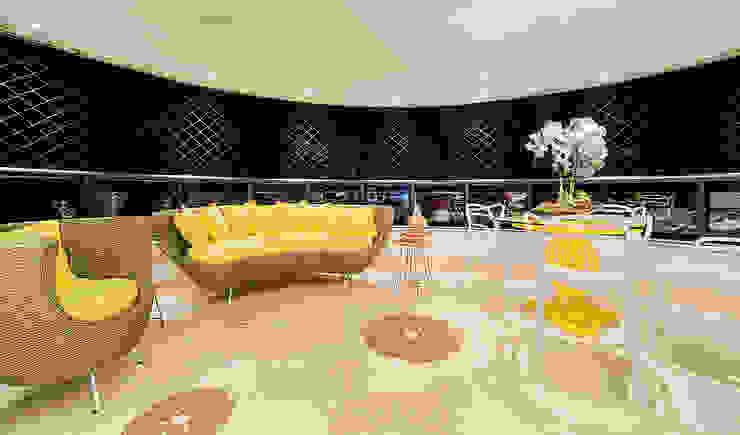 Apartamento por Arquiteto em Fortaleza RI Arquitetura Salas de estar modernas