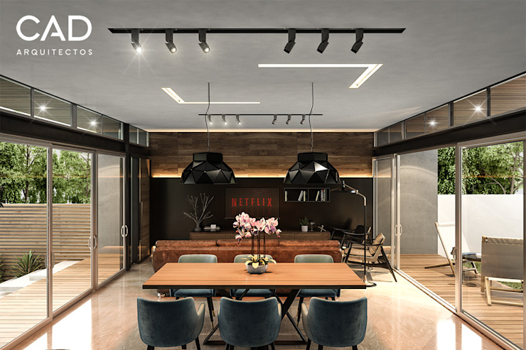 Living room by CAD Arquitectos,