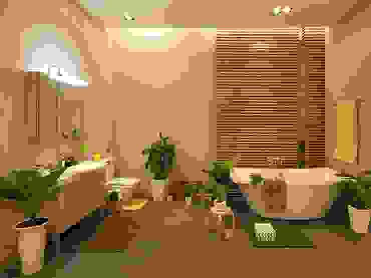 和風の お風呂 の Công ty Thiết Kế Xây Dựng Song Phát 和風