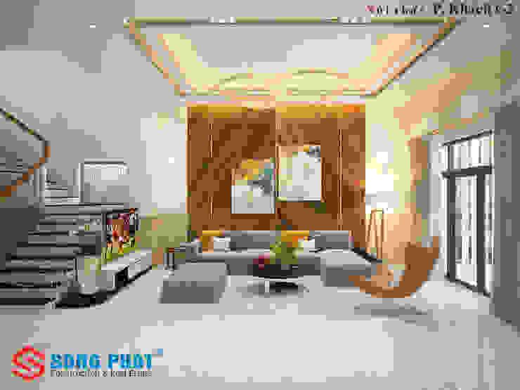 和風デザインの リビング の Công ty Thiết Kế Xây Dựng Song Phát 和風